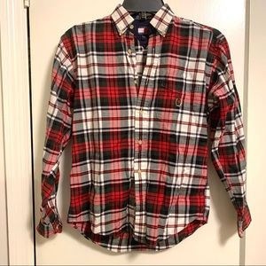 Boys Tommy Hilfiger Plaid Button Up Shirt